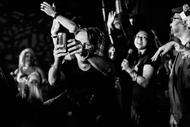 Stephen Norton capturing the Karaoke audience, Friday, VanCon 2016