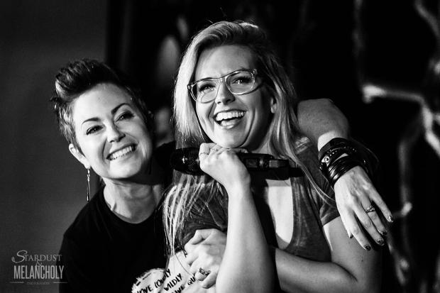 Kim Rhodes and Briana Buckmaster, MC Queens, VanCon 2016